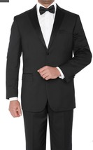 Classic Regular  Fit Black Tuxedo Notch Lapel  vented  tuxedos quality - $114.61 - $120.22