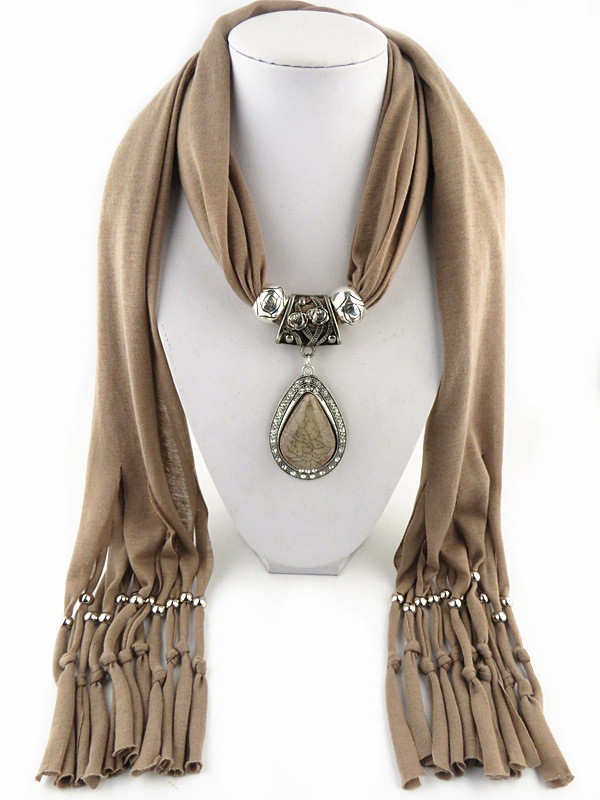 Charms Scarf jellery pendant Scarf Scarves lace Scarf image 8