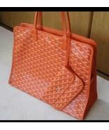 GOYARD Hardy PM Tote Bag Orange Canvas Leather handbag NEW - $3,257.10