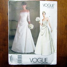 Vogue Bridal Original Sewing Pattern Gown Formal Princess Seams Uncut FF V2842  - $21.99