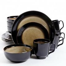 Gibson Elite Bella Galleria 16 Piece Stoneware Dinnerware Set in Taupe a... - $107.54