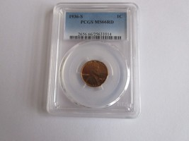 1936-S Lincoln Cent PCGS MS66RD - $225.00