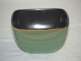 """Rave Green Square Home Trends 5-7/8"""" Soup Cereal Bowl Mottled Grn Splash... - $14.84"""