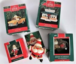 Lot 5 Hallmark Keepsake Christmas Ornaments 1984, 1989, 1990 Yellow Cab ... - £17.88 GBP