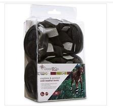 Good2GO Black Cold Weather Dog Boots Sz M  - $21.78