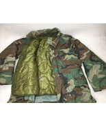 Vintage Army Military Cold Weather Field Hunting Coat Jacket Camouflage ... - $48.51