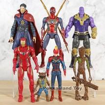Captain Marvel Spiderman Doctor Strange Captain America Model Collection... - $30.10