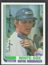 Chicago White Sox Wayne Nordhagen 1982 Topps Baseball Card #597 nr mt - $0.50
