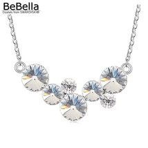 BeBella round bubbles pendant necklace with Crystals from Swarovski fashion crys image 5