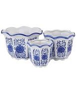 Blue and White Porcelain, HakkaGirl Flower Pots, Chinese Ceramic Planter... - $32.85