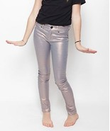 New Girls Jeans 14 NWT Joes Skinny Mango Metallic Unicorn Legging Jeggin... - $39.60