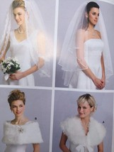 Kwik Sew Sewing Pattern 3405 Misses Wedding Veil Wraps Size S-L New - $14.85