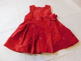 OshKosh Baby Girl Christmas Dress Red with Snowflakes 18 Months NWOT - $13.60