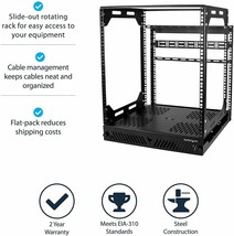 Startech Floor Standing Slide Out Server Rack, Rotating, 12U, Pull Out, 4 Post - $445.99