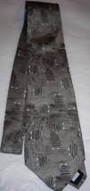 Pierre Cardin Gray Brown Mens Silk Neck Tie - $10.00