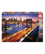 "NEW Educa Jigsaw Puzzle 3000 Pieces Tiles ""Manhattan at Dusk""  - $54.89"