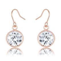 5.5 Ct Rosegold CZ Drop Earrings - $15.00