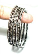 New Handmade Victorian Repro.Silver 5.40Ctw Rose Cut Diamond 4Pcs Antiqu... - $850.42