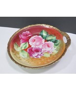 """American Beauty Germany Decorated Bowl Single Handle Artist Signed 9"""" - $41.58"""