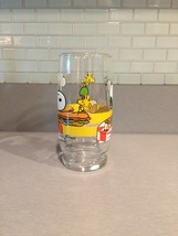 Vintage 1965 Peanuts Snoopy and Woodstock Collectible Glass image 4
