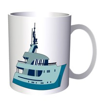 Retro Blue Boat SHip Gift Vintage 11oz Mug f892 - $203,52 MXN