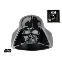 Disney Star Wars Black IP, Stainless Steel 3D Darth Vader Ring - $56.00