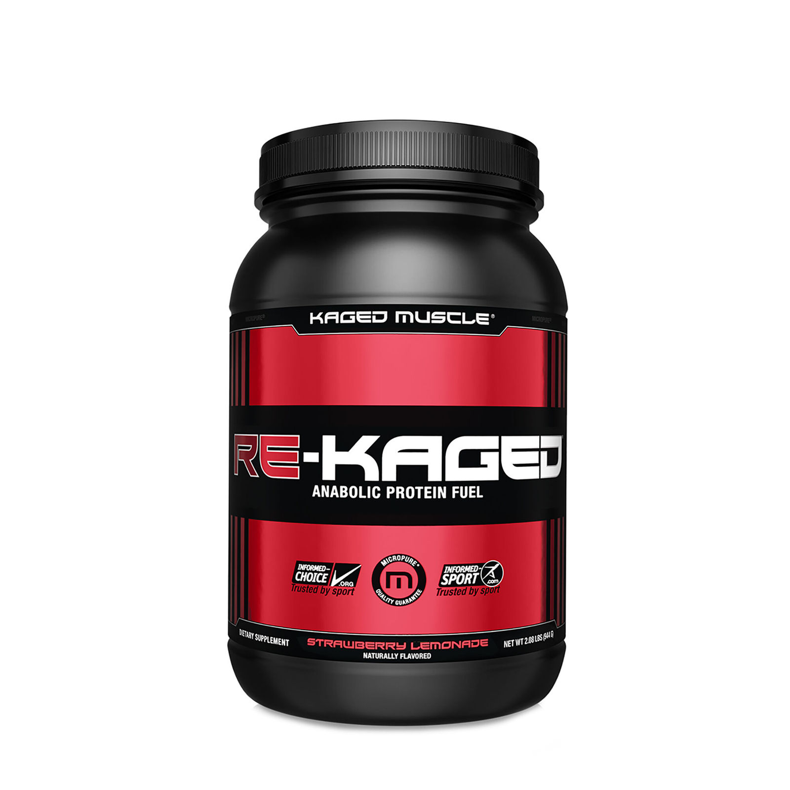 KAGED MUSCLE RE-KAGED Anabolic Protein Fuel STRAWBERRY LEMONADE net.wt. 2.08lbs. - $39.99
