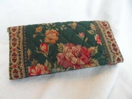 Vera Bradley old style checkbook cover in retired Greenbriar w/ Indiana ... - $15.50