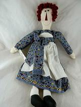 """Folk Art Hand Crafted Farm House Raggedy Ann Type Doll 17"""" Cloth Rag doll - $15.04"""