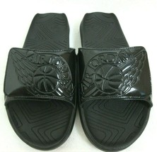 Jordan Hydro 7 Mens Slides Flip Flops Sandals Shiny All Black Free Ship ... - $37.99