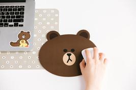 Korea Naver LINE Friends BROWN Character Mouse Pad Desktop Computer Acc ... - $228,11 MXN
