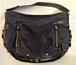 Nine West...Multi Zippered Shoulder Tote Bag...Black - $5.93