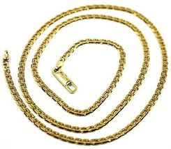 """SOLID 18K GOLD GOURMETTE CUBAN CURB 18K YELLOW GOLD CHAIN OVAL WAVE 2.5mm, 24"""" image 3"""