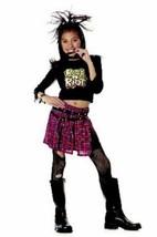 xcg102 Child Rock N Roll RIOT GIRL Halloween Costume Medium 8-10 - $26.13