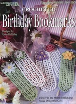 Birthday Bookmarks 12 Flower Of The Month Designs Crochet PATTERN/INSTRUCTIONS - $11.67
