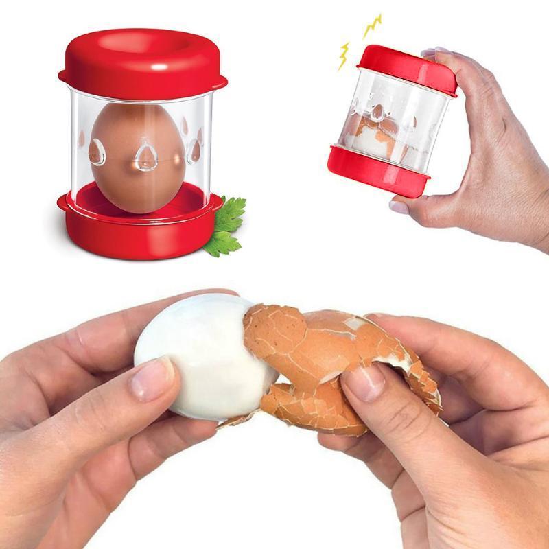 Egg Shell Peeler Egg Slicer Cutter Peeling Tool egg Peeler Kitchen Tool Egg Slic