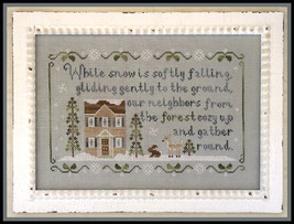 Forest Snowfall christmas winter cross stitch chart Country Cottage Needleworks - $7.20