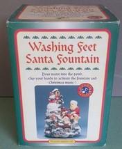 Vintage Washing Feet Santa Fountain Sound Sensor Christmas Animated Deco... - $32.42