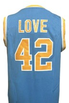 Kevin Love #42 College Basketball Jersey Sewn Blue Any Size image 2