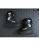 Airwalk Boy's SZ 6 Boots Black White Strap Thermolite Snow Waterproof Retro - $36.62
