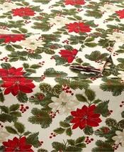 Bardwil Poinsettia Pine Napkins, Set Of 4, Ivory (Missing Original Tag) - $17.33
