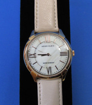 Womens Anne Klein Wrist Watch Water Resistant Leather Strap Roman Numerals - $54.44