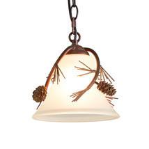 Rustic Pine Cone & Needles Mini Pendant Light Cabin Cottage Lodge Lighting - $76.35