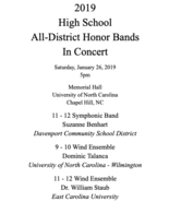 2019 All Central District High School Concert CD - $16.00
