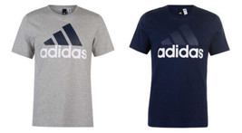 adidas Men's ESS Linear Logo Short Sleeve Tee Shirt Crew Neck T-Shirt Licensed
