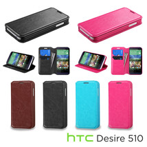 For HTC Desire 510 / 512 Leather Flip Wallet Hard Case Cover Stand Pouch... - $7.12+