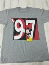 Vintage 97 Mickey Mouse Gray T-Shirt Walt Disney World No Tags Small Medium - $14.54
