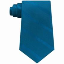 New Tommy Hilfiger Teal Men's  Solid Textured Stripe Tie - $10.22