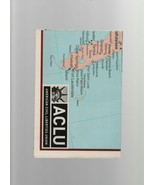 American Civil Liberties Union United States Folding Map. - $1.37