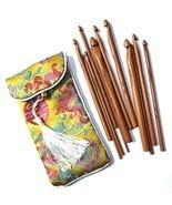 Craft Crochet Hook 12Pack 3mm10mm Bamboo Hooks Kit in a Pouch for Beginn... - ₨1,185.54 INR